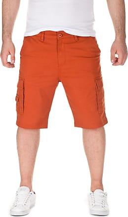 Yazubi Mens Summer Cargo Chino Shorts Mundo, Brick-red (11261), W29
