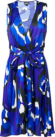 Just Cavalli abstract print midi dress - Blue