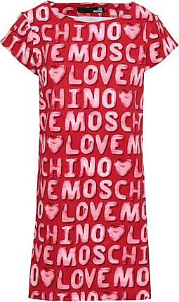Love Moschino Love Moschino Woman Printed French Cotton-blend Terry Mini Dress Red Size 38