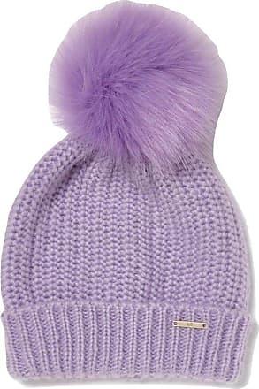 River Island Ladies Lilac Faux Fur Bobble Hat