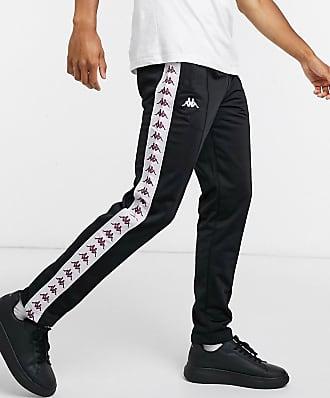 Kappa slim fit joggers in black