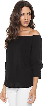 Vero Moda Blusa Vero Moda Ombro a Ombro Preta