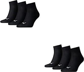 6 Paar Puma Sneaker Füsslinge kurz 35-38 SCHWARZ