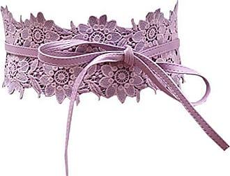 Damen Spitze Blumen Gürtel Silber Taillengürtel Wickelgürtel Bindegürtel SA-88
