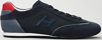 Reposi Calzature Hogan - Olympia - Sneakers in suede blu dettagli rossi