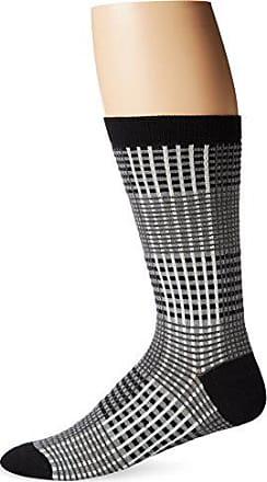 Ozone Mens Prince Of Wales Sock, Black, Sock Size:10-13/Shoe Size: 6-12