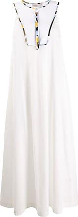 Emilio Pucci Vestido longo sem manga - Branco