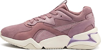 Puma Nova Pastel Grunge Womens Trainers, Elderberry/Elderberry, size 3.5, Shoes