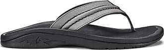 Olukai OluKai Hokua Supportive Sandals - Men Sharkskin/Dark Shadow - 9