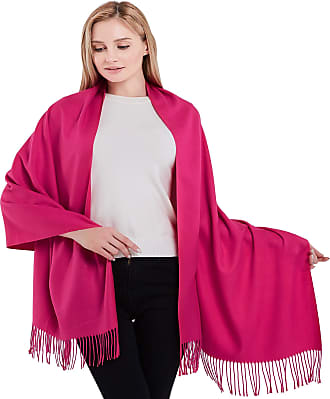 CJ Apparel Hot Pink Thick Solid Colour Design Cotton Blend Shawl Scarf Wrap Pashmina CJ Apparel NEW(Size: One Size)