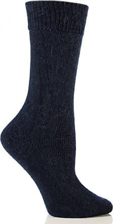SockShop Mens & Ladies 1 Pair SockShop of London Mohair Plain Knit True Socks In 4 Colours - 8-10 Unisex - Navy