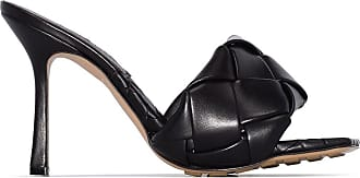 Bottega Veneta Mule de couro de couro padronado preto