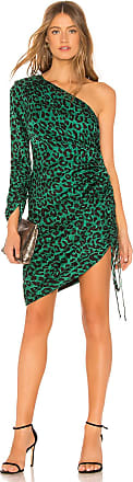 Milly Leopard Print Jacquard Dress in Green
