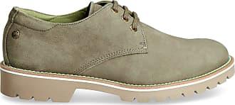 Panama Jack Mens Shoes Kalvin C10 Nobuck Kaki/Khaki 41 EU