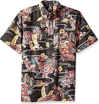 d5c24936 Reyn Spooner Mens Spooner Kloth Classic Fit Pullover Hawaiian Shirt, Mizu  No Kokoro - Black