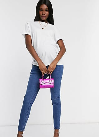 Asos Maternity ASOS DESIGN Maternity Whitby low waist skinny Jeans in rich midwash blue with over bump waist band