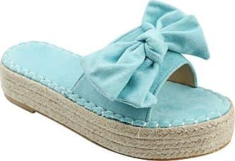 YYW womens Slider Blue Size: 8.5 Narrow