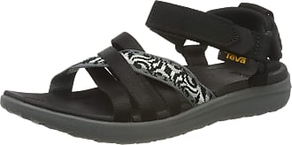 Teva Womens Sanborn Ws Ankle Strap Sandals, Black (Thena Gray/Black 402), 3 UK