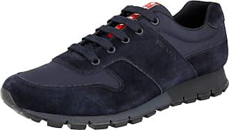 Prada Mens 4E3363 OQT F0008 Blue Leather Trainers/Sneaker UK 11.5 / EU 45.5