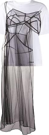Quetsche T-shirt semi trasparente - Di colore bianco