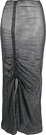 Oséree Saia metalizada com franzido - Metálico