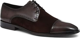 Jones Bootmaker Hand-Finished Leather Derby Brogue Brown