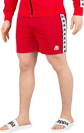Kappa Mens 222 Banda Cole Retro Slim Fit Shorts Red/White XL