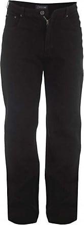 Duke London Duke Mens Rockford Tall Comfort Fit Jeans-Black-36W X 38L