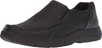 Dr. Scholls Mens Blurred Sneaker, Black Leather, 10.5 M US