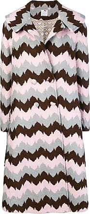 Ultra Chic graphic print coat - Brown