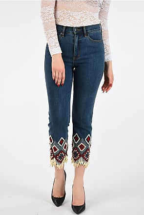 Tory Burch 19cm Shell Embroidered Jeans size 27