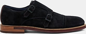 Ted Baker Suede Monk Shoes in Dark Blue CLINNTE, Mens Accessories