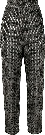 Iro printed high rise trousers - Cinza