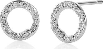 Monica Vinader Riva Circle Stud Diamond earrings - SILVER