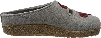 Haflinger Womens Grizzly Bubble Open Back Slippers, Grey (Steingraumeliert 84), 4.5 UK