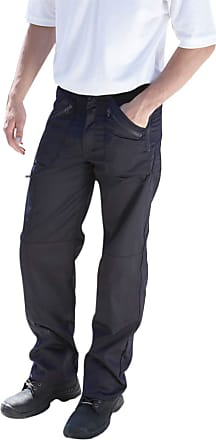 True Face Mens Trouser Heavy Duty Combat Cargo Multi Zip Pockets Workwear Pants Bottoms Black 30W X 34L