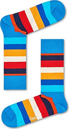 Happy Socks Colourful Premium Cotton Classic Themed Socks for Men and Women, Blue Stripe (36-40)