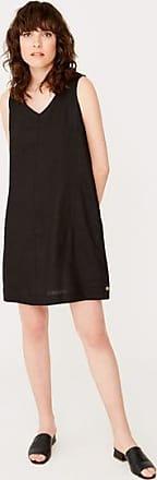 Yerse Schwarzes ärmelloses Kleid mit V-Ausschnitt - xxlarge - Black