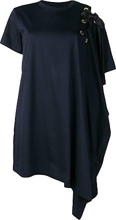 0e70d0a79270e sacai asymmetric T-shirt dress - Blue