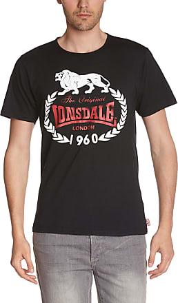 Lonsdale Mens Original 1960 Slimfit Long Sleeve Top, Black, Medium
