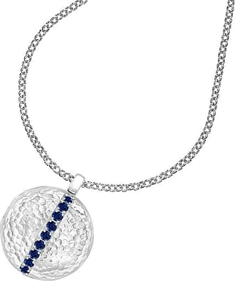 Dower & Hall Blue Sapphire 16mm Round Lumiere Locket