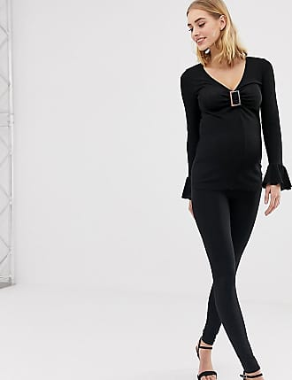4a47bf6f170a35 Asos Maternity ASOS DESIGN Maternity Tall over the bump high waisted  leggings in black