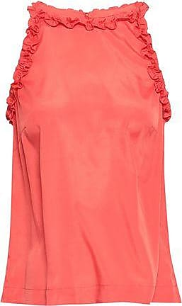 Raoul Raoul Woman Ruffle-trimmed Crepe De Chine Top Coral Size XS