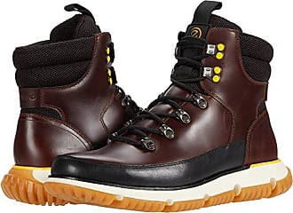 Ch Earthen Leather Black Rustic Wool 8.5 US Cole Haan mens Hiking Boot