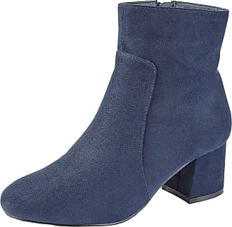 Lora Dora Womens Chunky Block Heel Chelsea Boots Layla Navy 7 UK