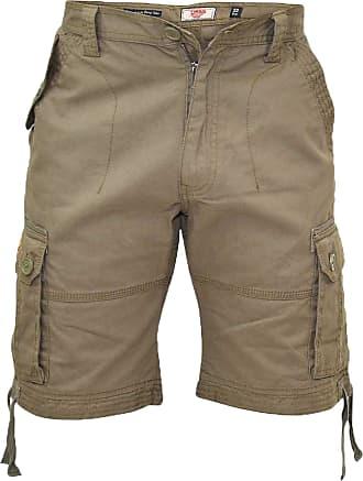 Duke London Mens Duke Big King Size Cargo Combat Plain Knee Length Summer Shorts 42 44 46 48 Khaki
