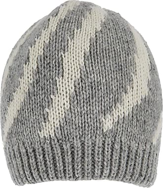 Dents Grey and Winter White Striped Knitted Beanie Hat One Size