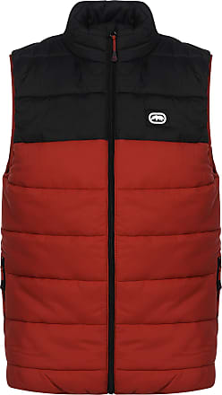 Ecko Mens Unlimited Waistcoats Padded Gilet Quilted Bodywarmers (2XL, Red)