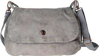 74634df5e5 DuDu Sac en cuir lavé pour femme teinté produit fini avec bandoulière et  rabat DUDU Ash