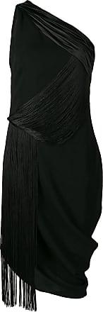 Versace Vestido midi um ombro só - Preto